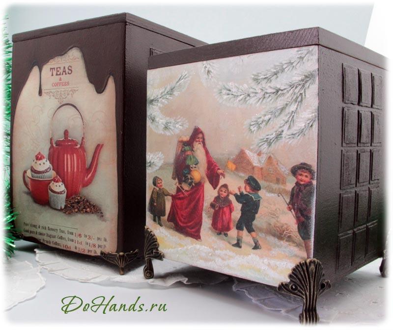 Короб для конфет к Рождеству